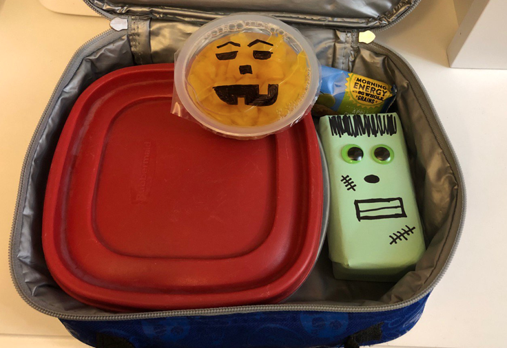 Lunch box with Halloween treats